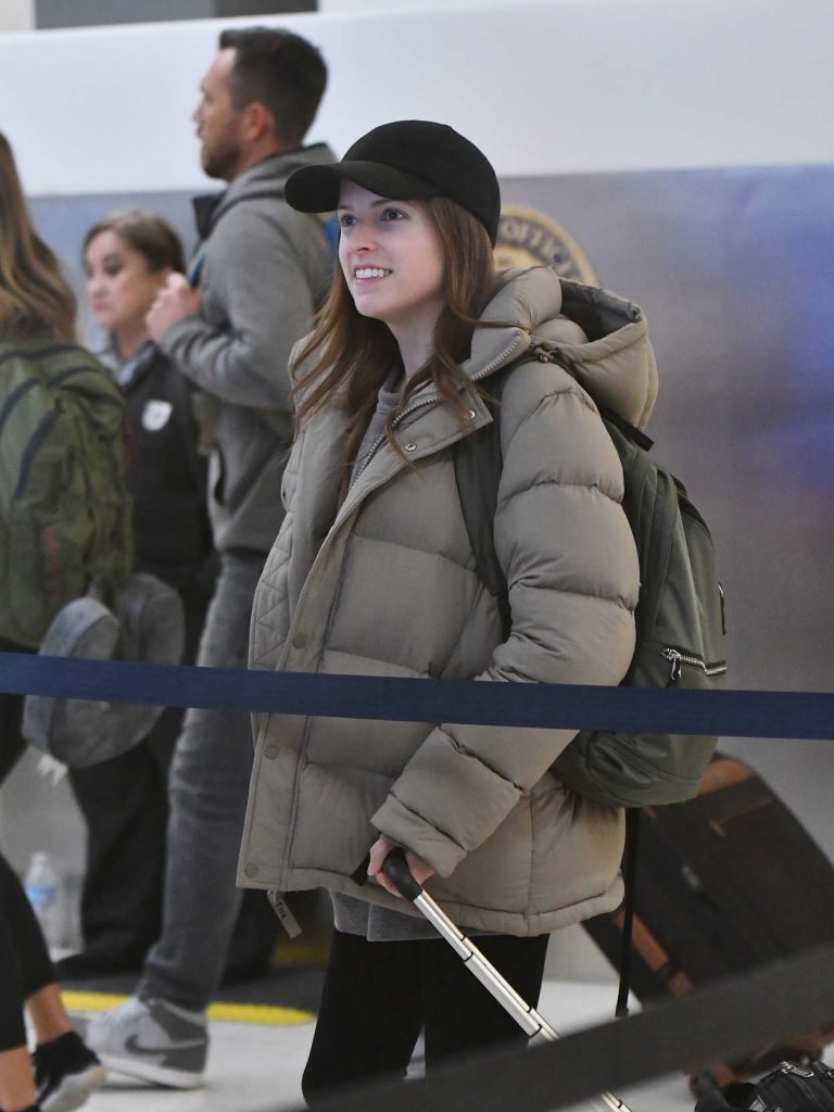 Anna Kendrick in a Black Adidas Sneakers
