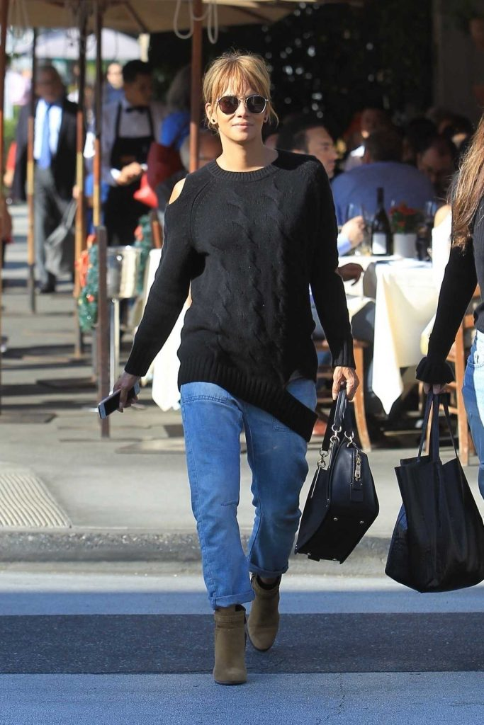 Halle Berry in a Black Sweater
