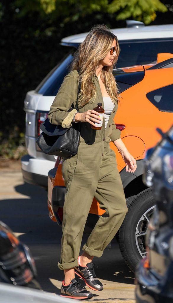 Heidi Klum in a Green Overalls