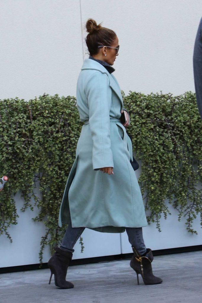 Jennifer Lopez in a Marine Coat