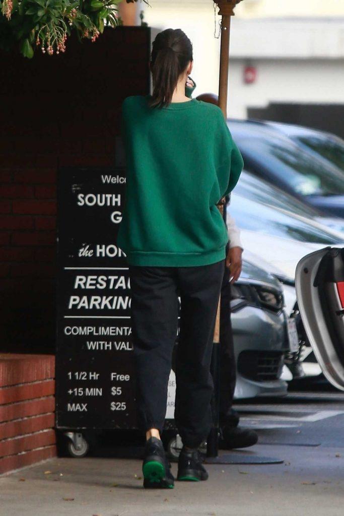 Kendall Jenner in a Green Sweatshirt