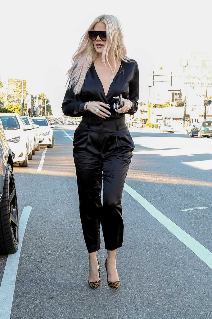 Khloe Kardashian in a Black Suit