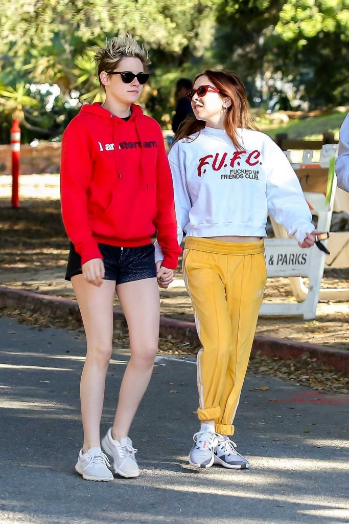 Kristen Stewart in a Red Hoody