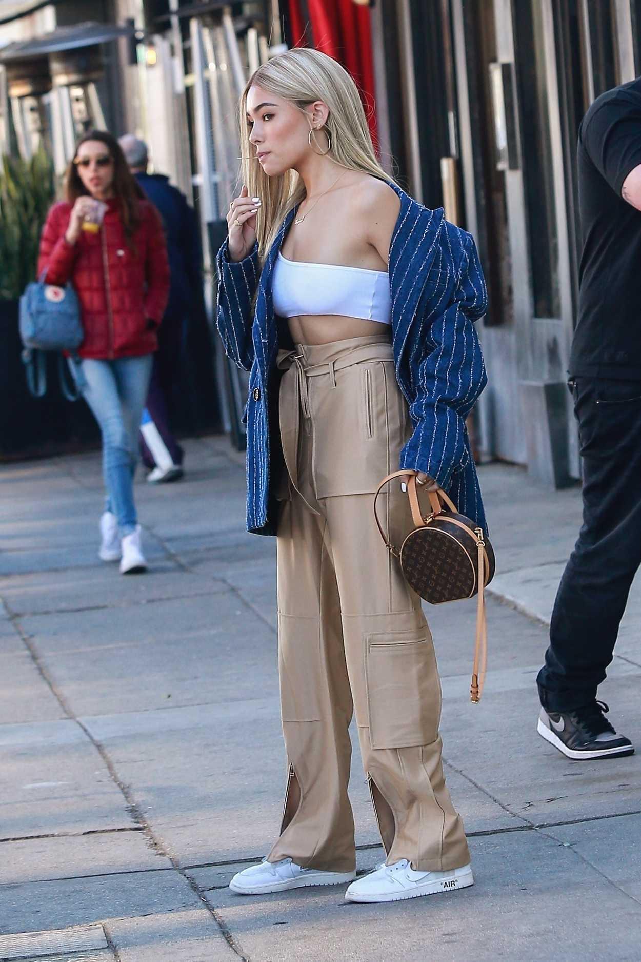 Madison Beer Debuts Her New Platinum Blonde Hair In La 12