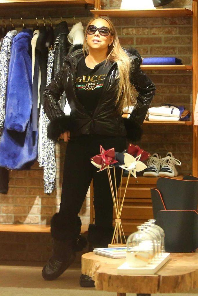 Mariah Carey in a Black Gucci T-Shirt