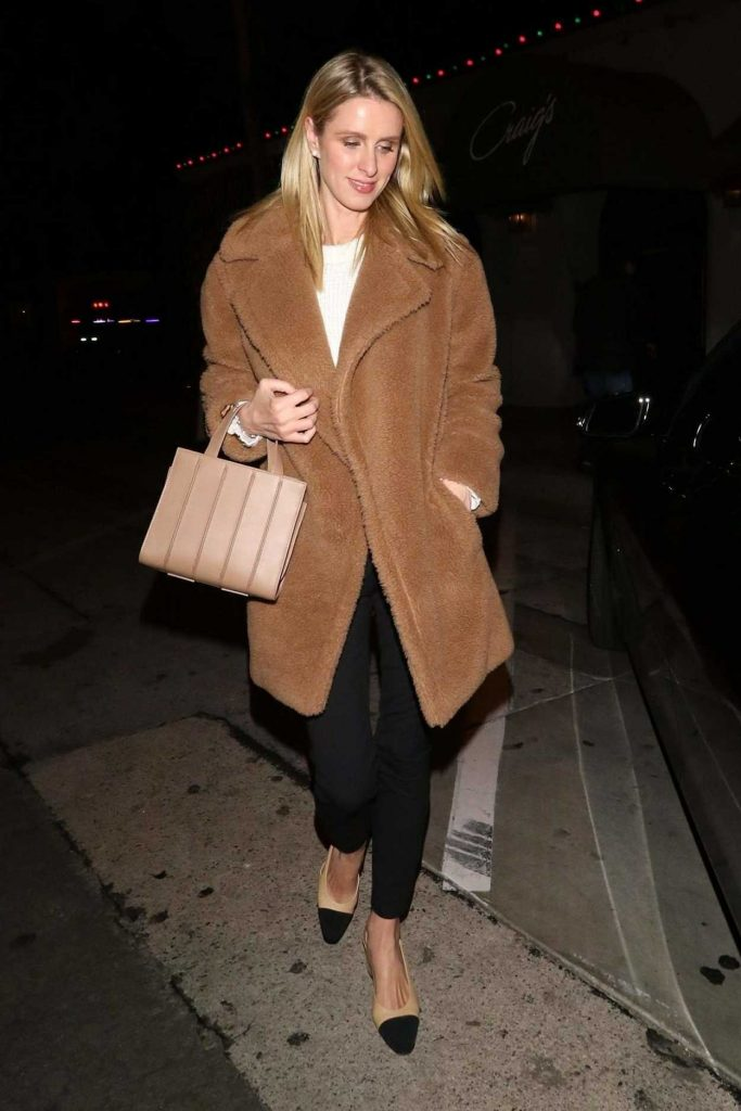 Nicky Hilton in a Light Brown Fur Coat