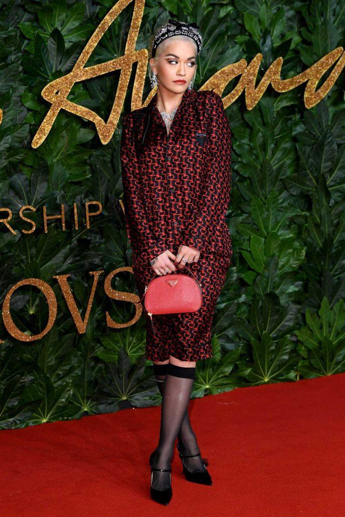 Rita Ora Singer >> Rita Ora Attends 2018 British Fashion Awards in London 12/10/2018 – celebsla.com