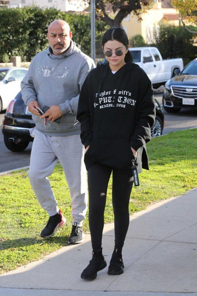 Selena Gomez in a Black Hoodie