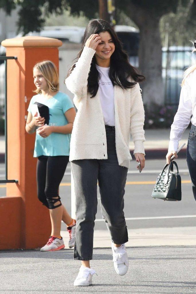 Selena Gomez in a White Camisole