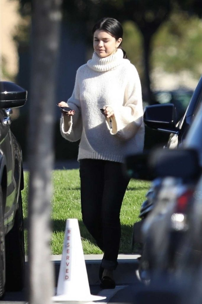 Selena Gomez in a White Sweater