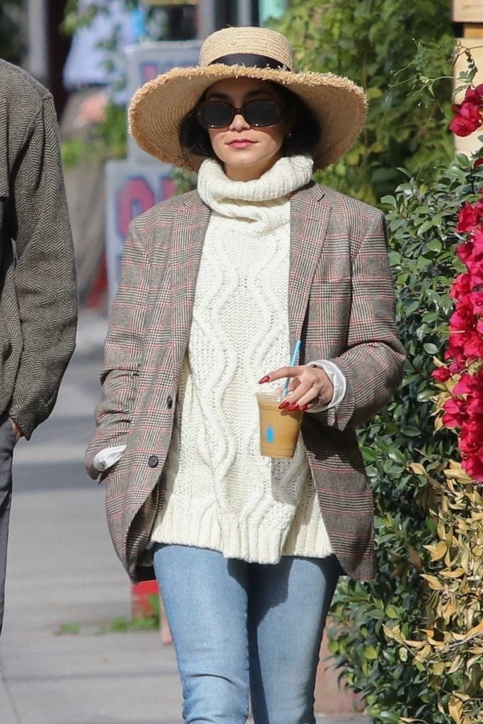 Vanessa Hudgens in a Straw Hat