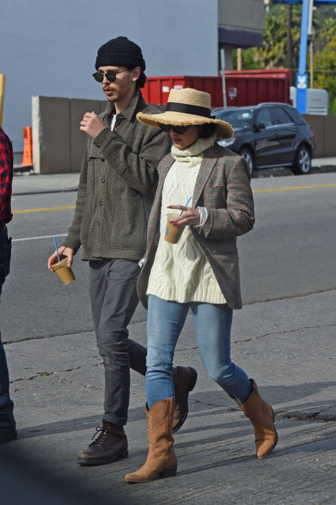 Vanessa Hudgens in a Straw Hat