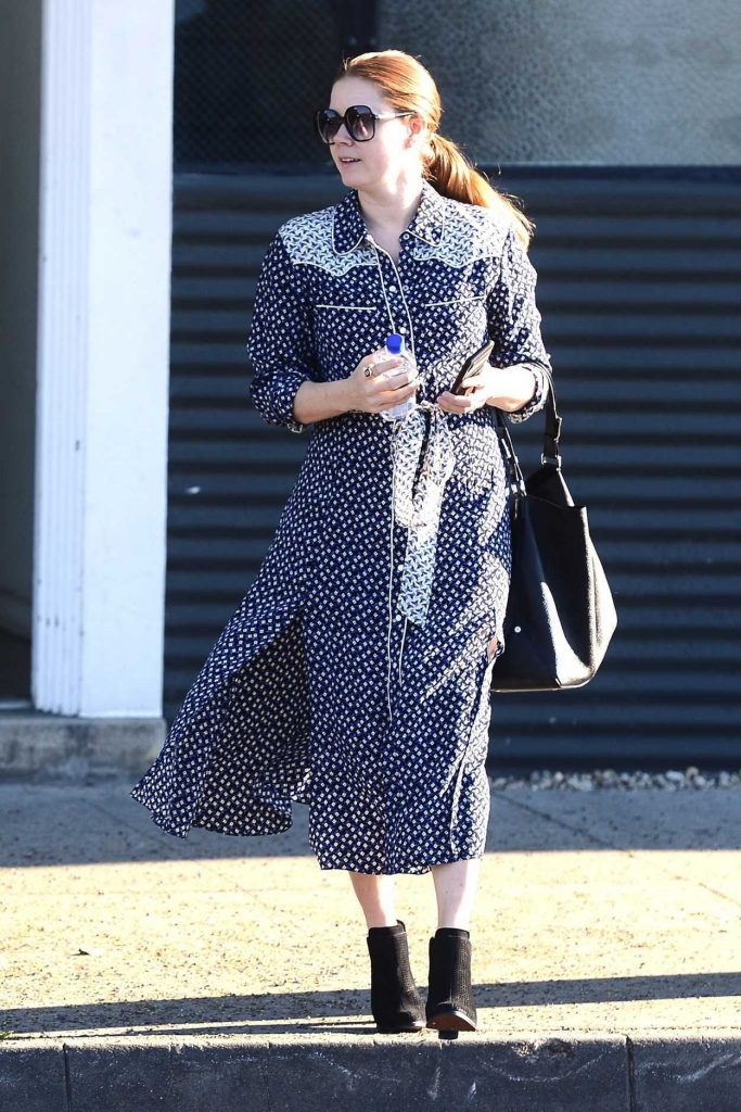 Amy Adams in a Polka Dot Dress