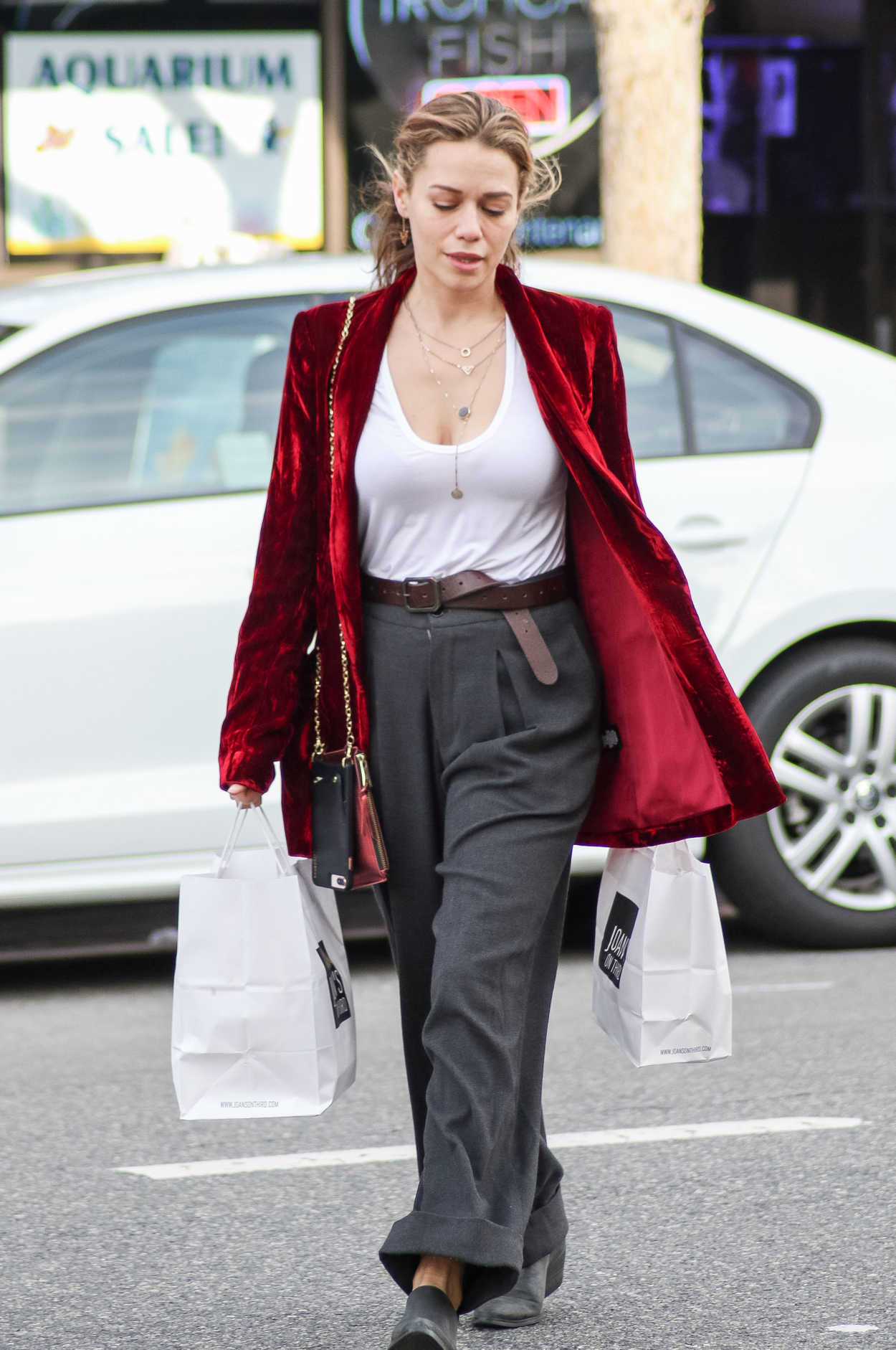 Bethany Joy Lenz in a Red Blazer Was Seen Out in Los ...