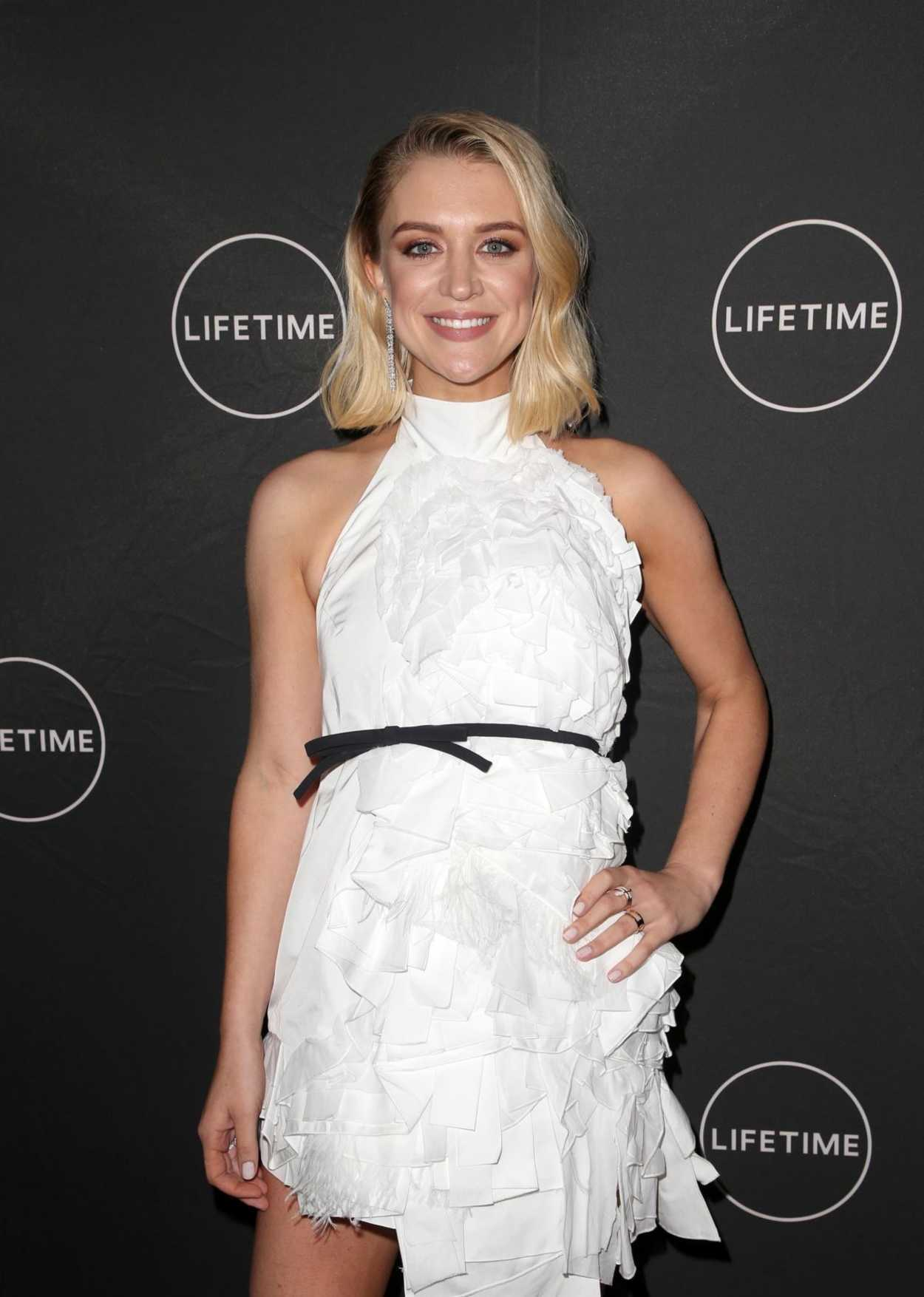 chelsea frei attends lifetime winter movies mixer in los. Black Bedroom Furniture Sets. Home Design Ideas