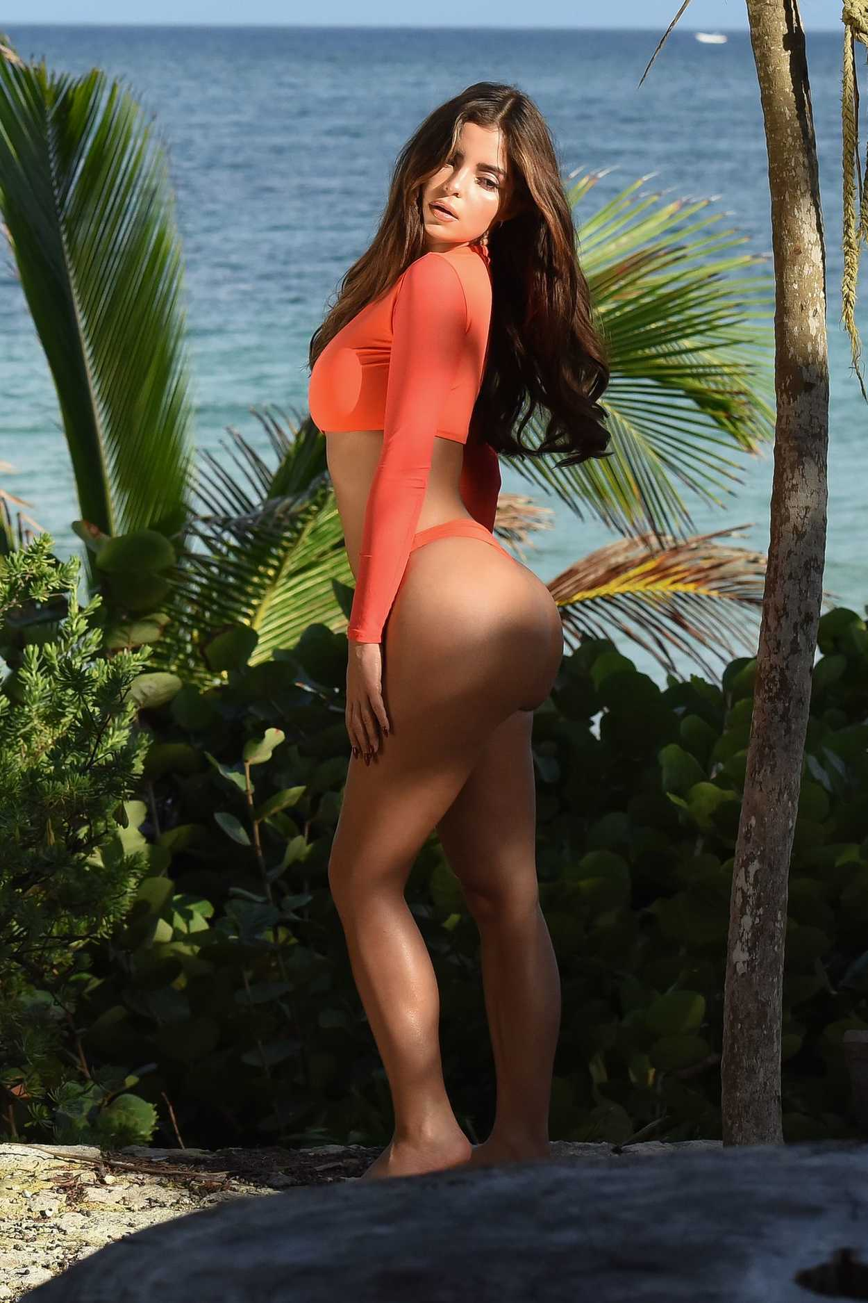 Demi Rose Does A Bikini Photoshoot On The Beach In Tulum