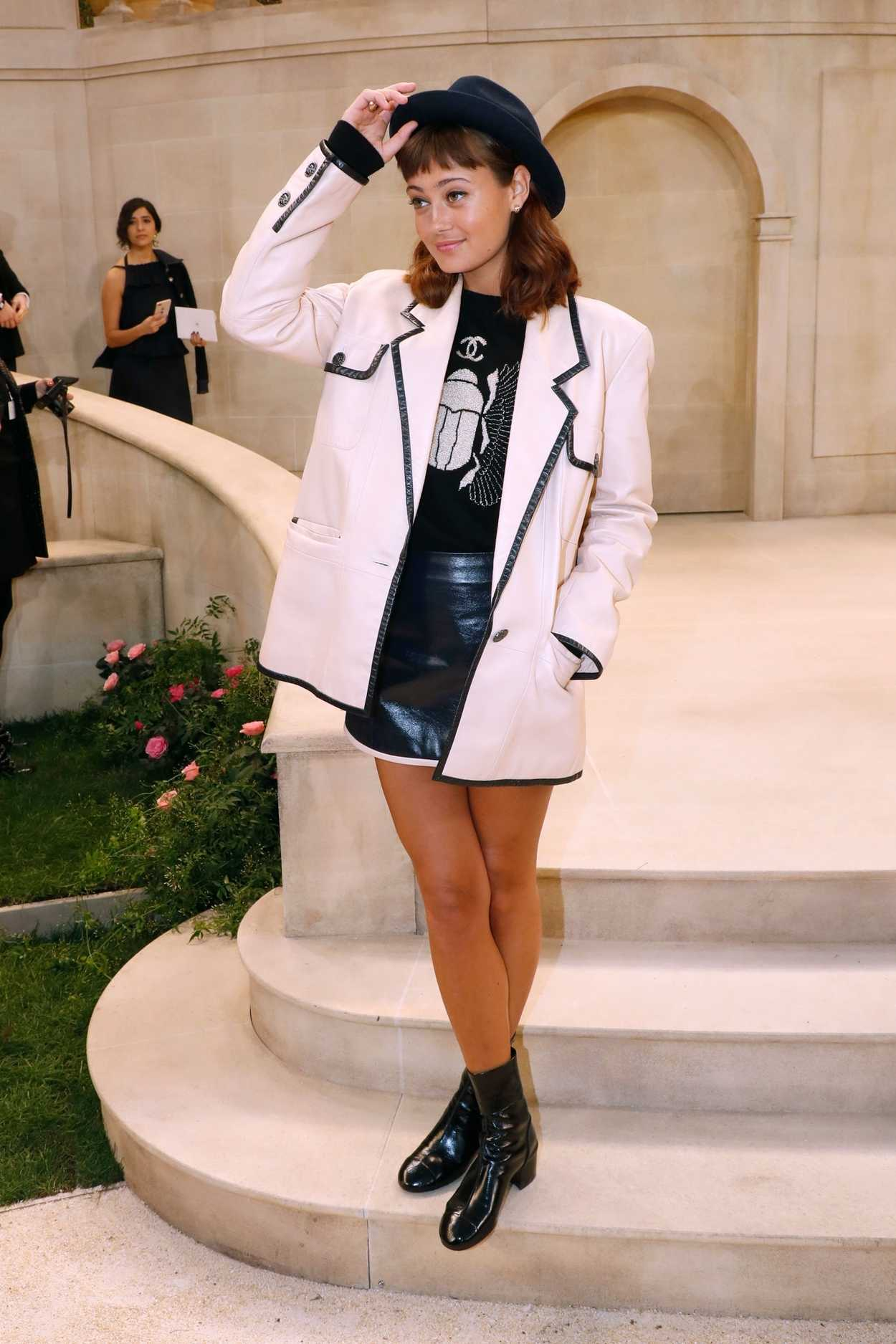 Ella Purnell Attends 2019 Chanel Show During the Paris ...