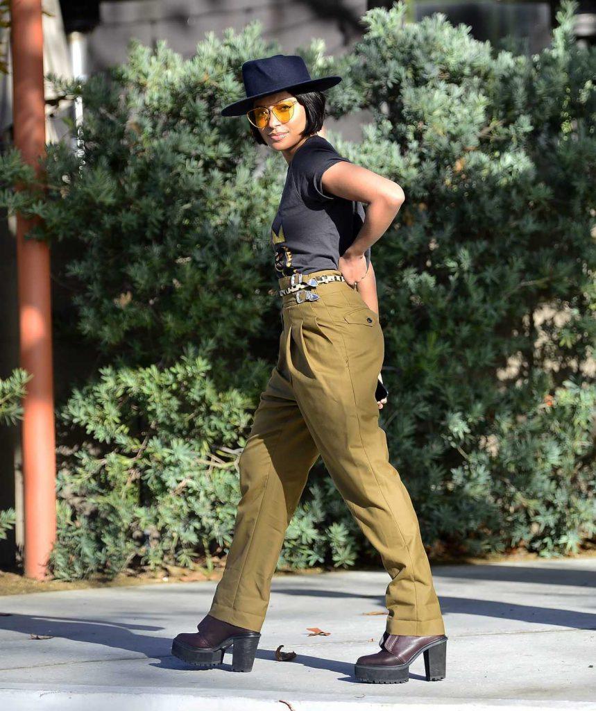 Kat Graham in a Black Hat