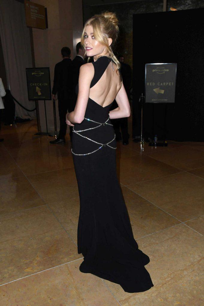 Katherine McNamara in a Black Dress