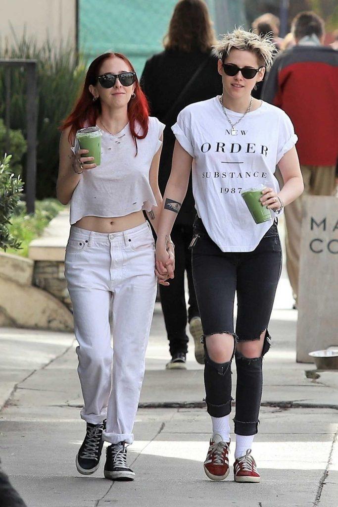 Kristen Stewart in a White T-Shirt