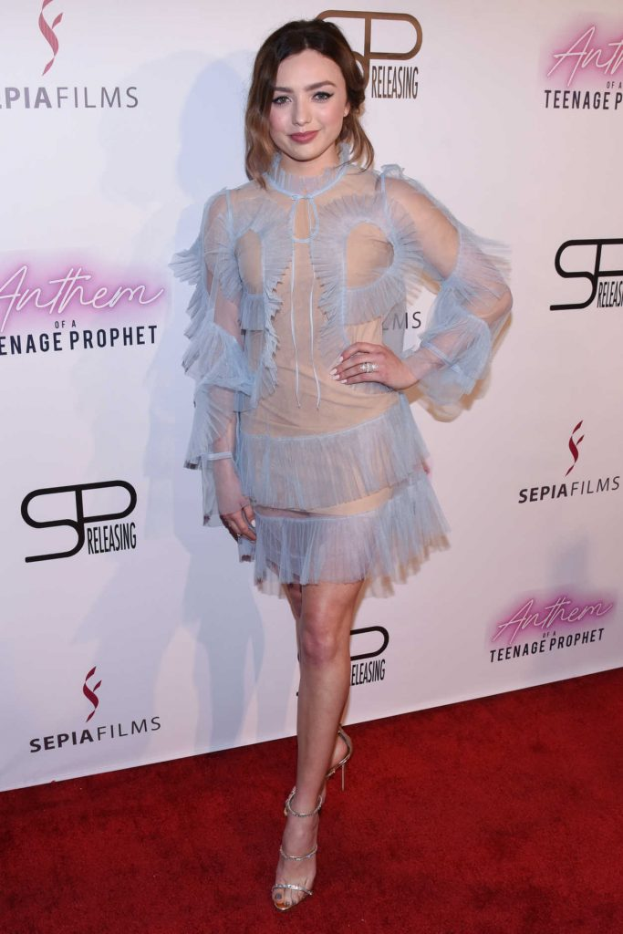 Peyton List Attends Anthem Of A Teenage Prophet Premiere
