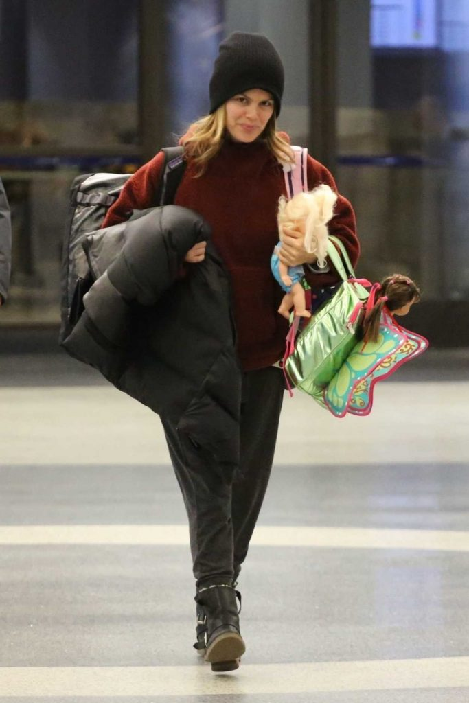 Rachel Bilson in a Black Knit Hat