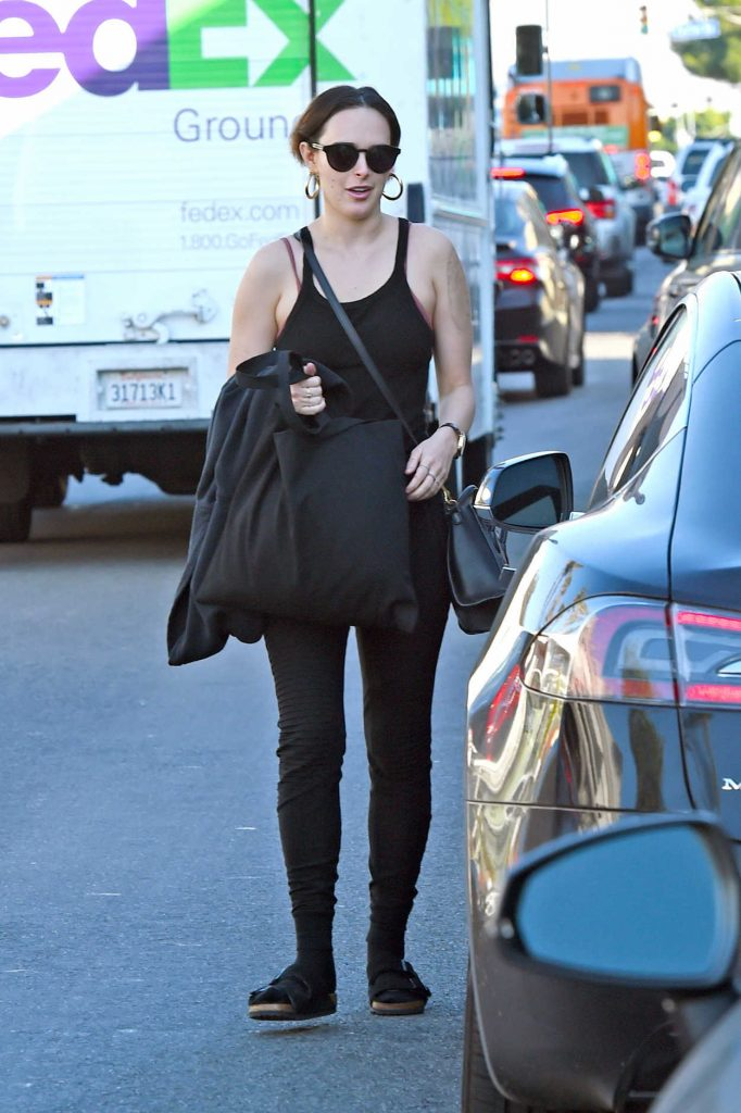 Rumer Willis in a Black Tank Top