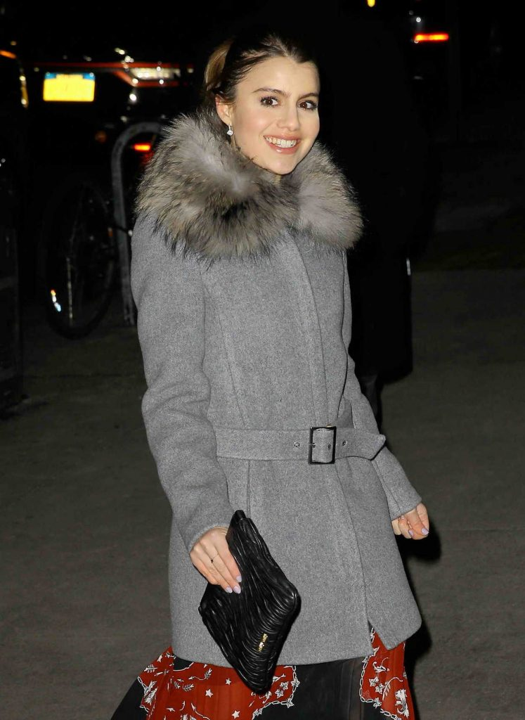 Sami Gayle in a Gray Coat