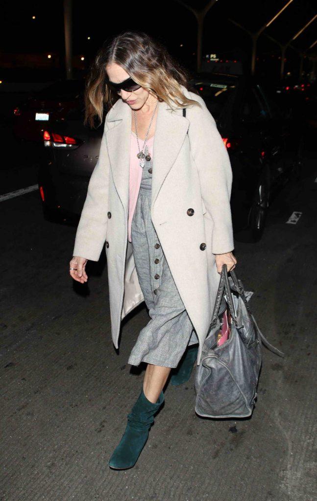 Sarah Jessica Parker in a Beige Coat