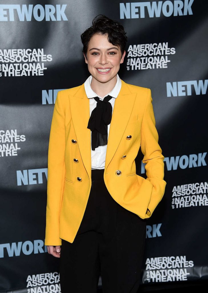 Tatiana Maslany Attends Celebrate Network In New York City