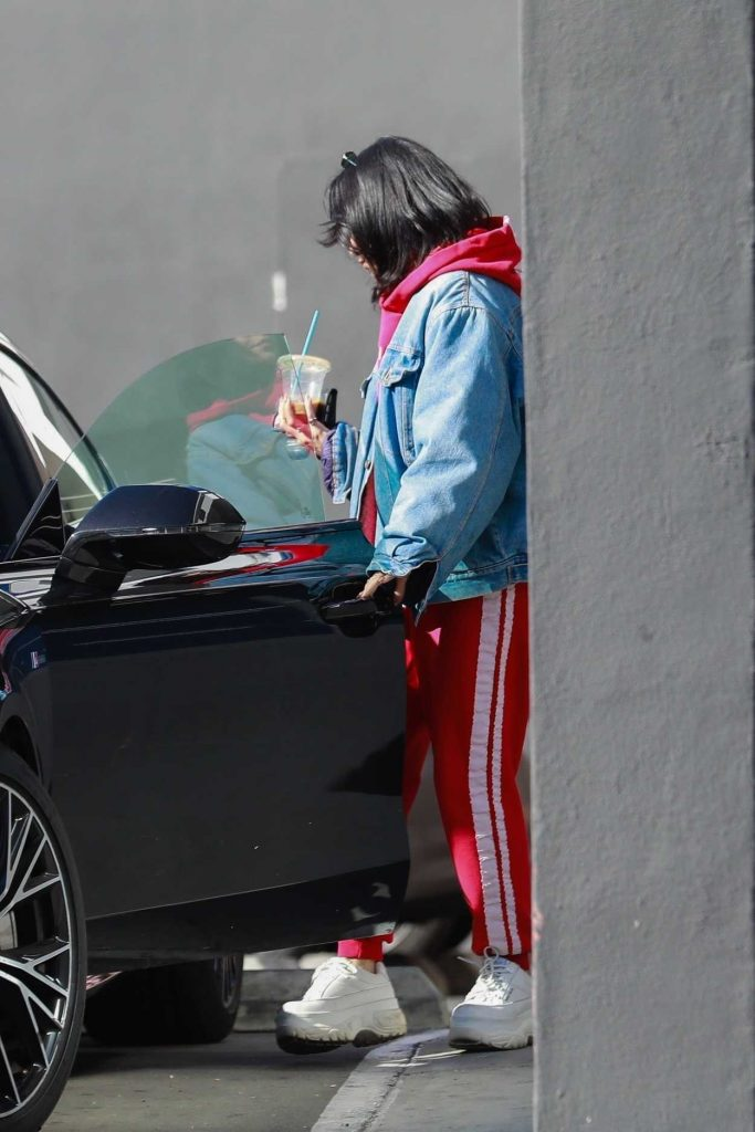 Vanessa Hudgens in a Red Track Suit