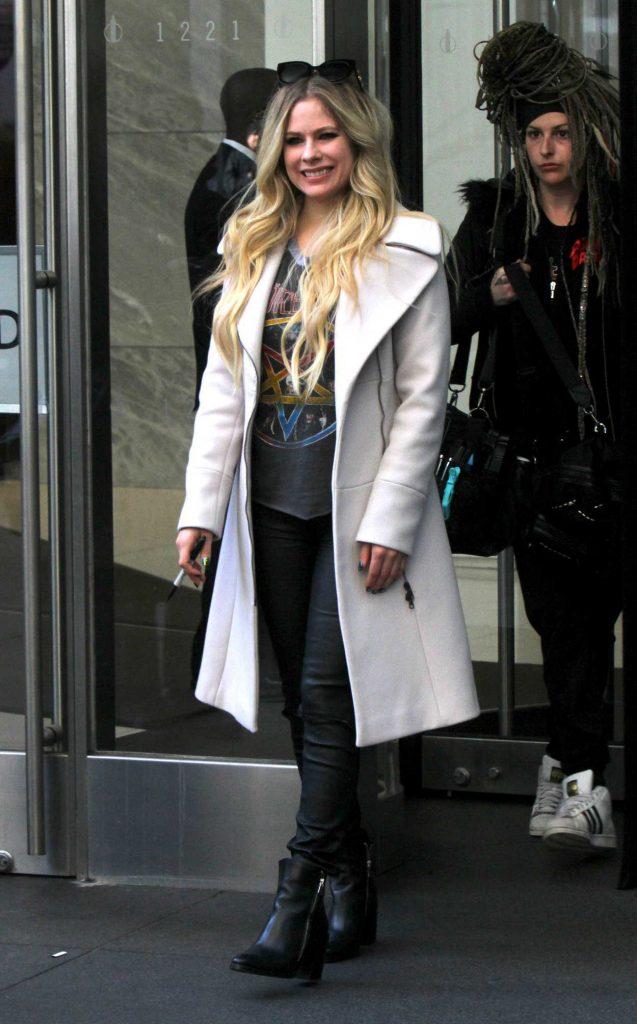 Avril Lavigne in a White Coat