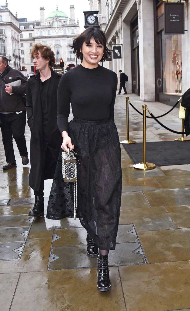 Daisy Lowe in a Black See-Through Skirt