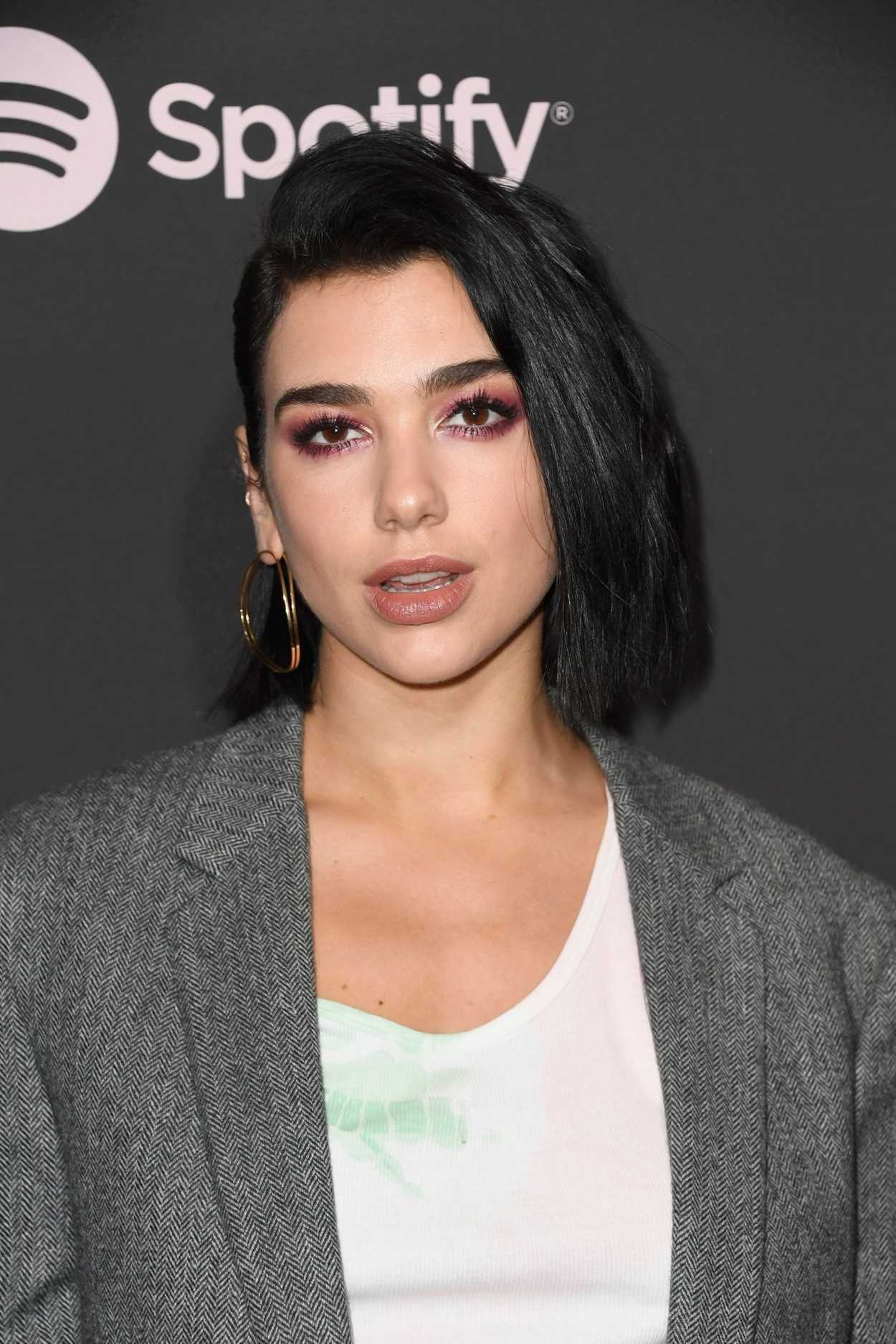 dua lipa attends spotify best new artist 2019 event in los