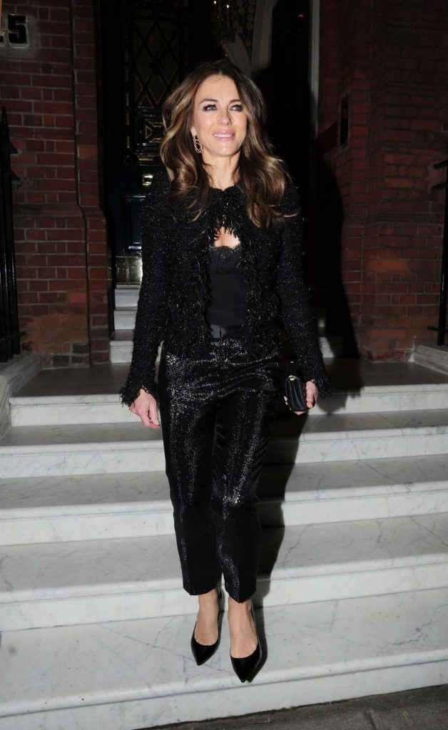 Elizabeth Hurley in All Black