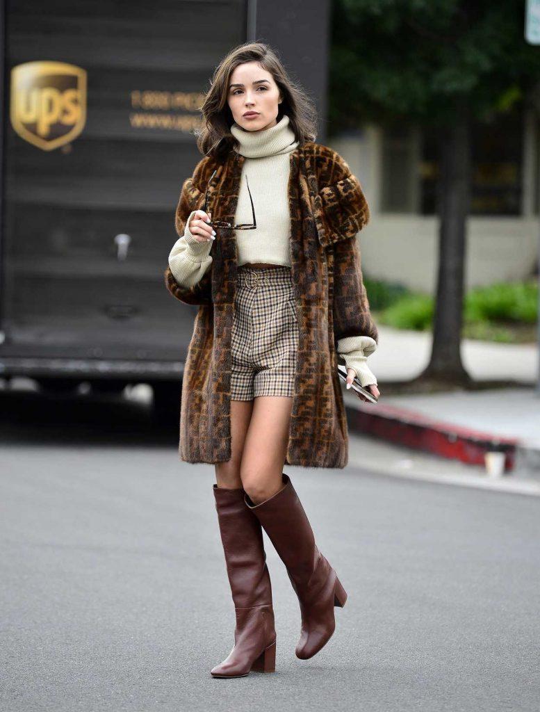 Olivia Culpo in Fendi Fur Coat