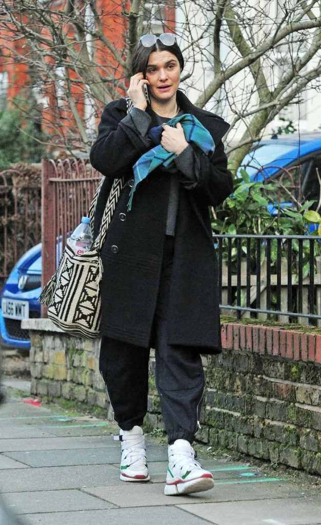 Rachel Weisz in a Black Coat