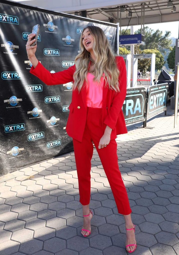 Romee Strijd in a Red Suit