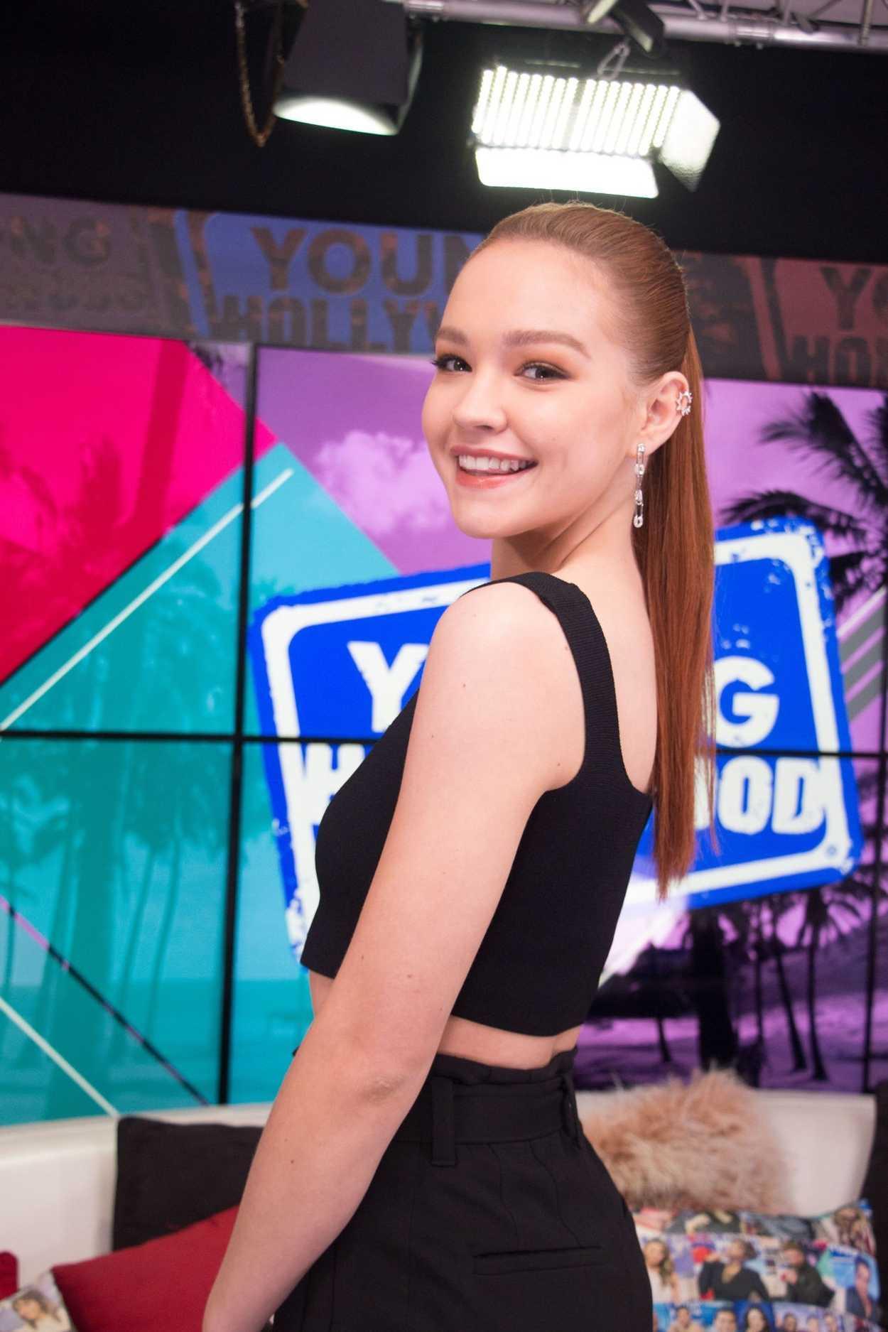 Sadie Stanley Visits the Young Hollywood Studio in Los ...