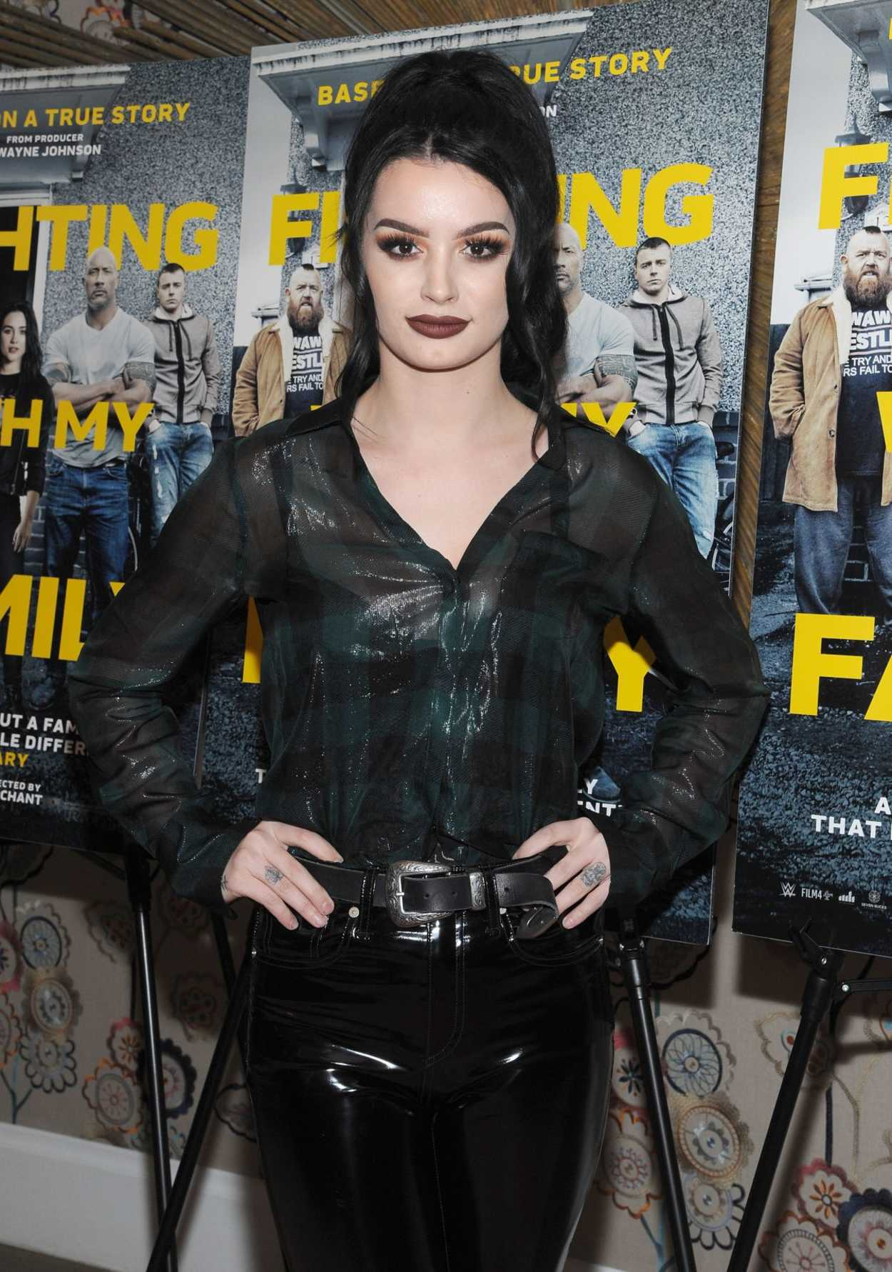Saraya Jade Bevis Attends Fighting With My Family Special