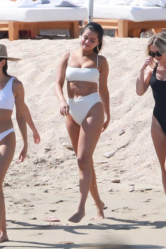 Selena Gomez in a White Bikini