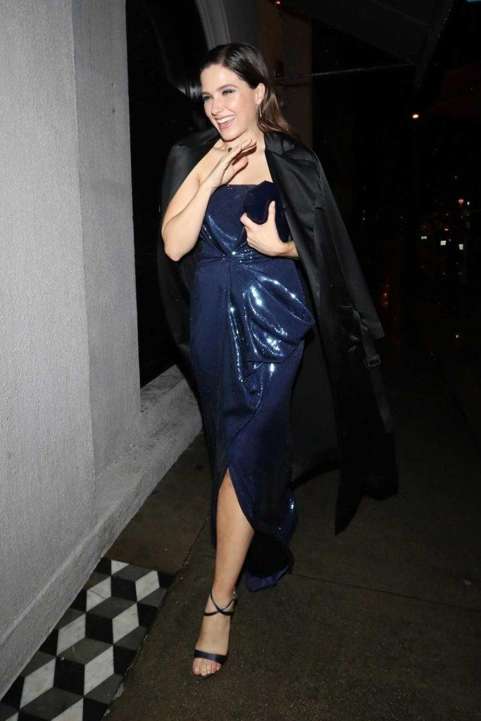 Sophia Bush in a Blue Evening Dress