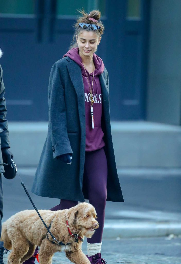 Taylor Hill in a Purple Timberland Boots