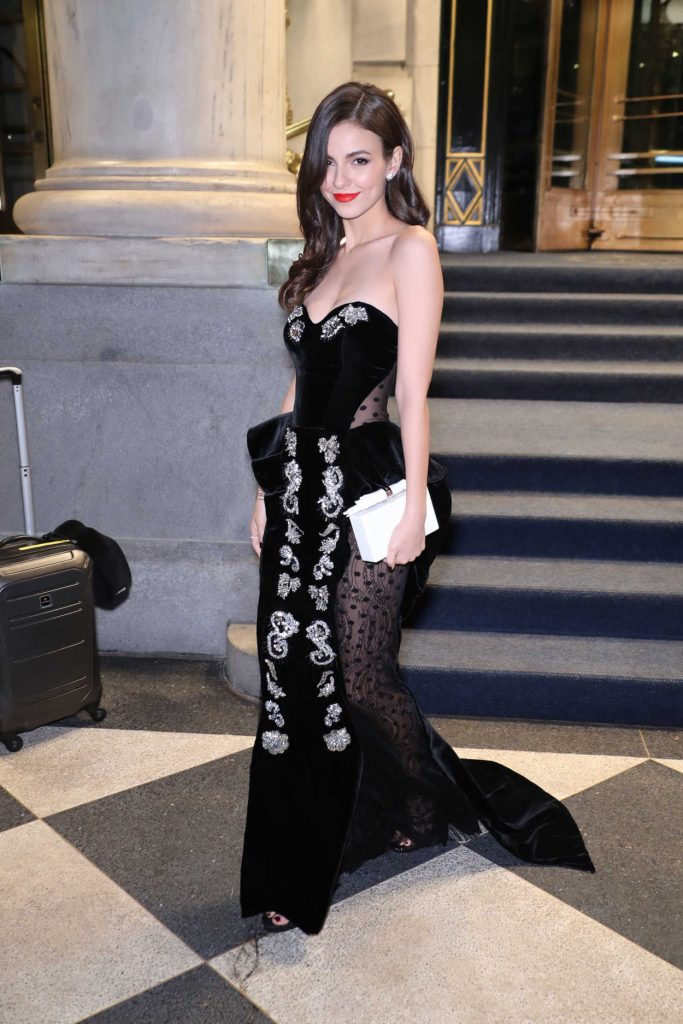 Victoria Justice in a Black See-Through Dress