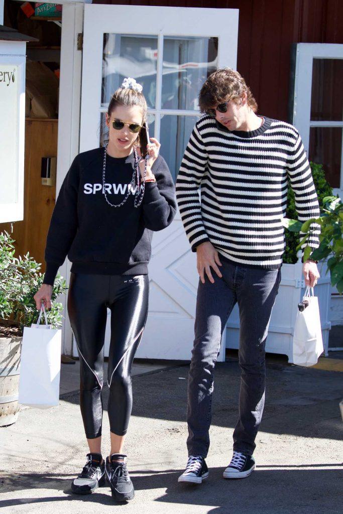 Alessandra Ambrosio in a Black Sweatshirt