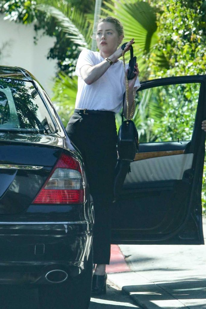 Amber Heard in a White T-Shirt