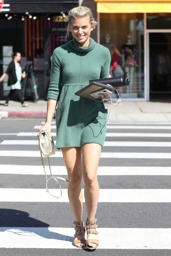 AnnaLynne McCord in a Green Dress