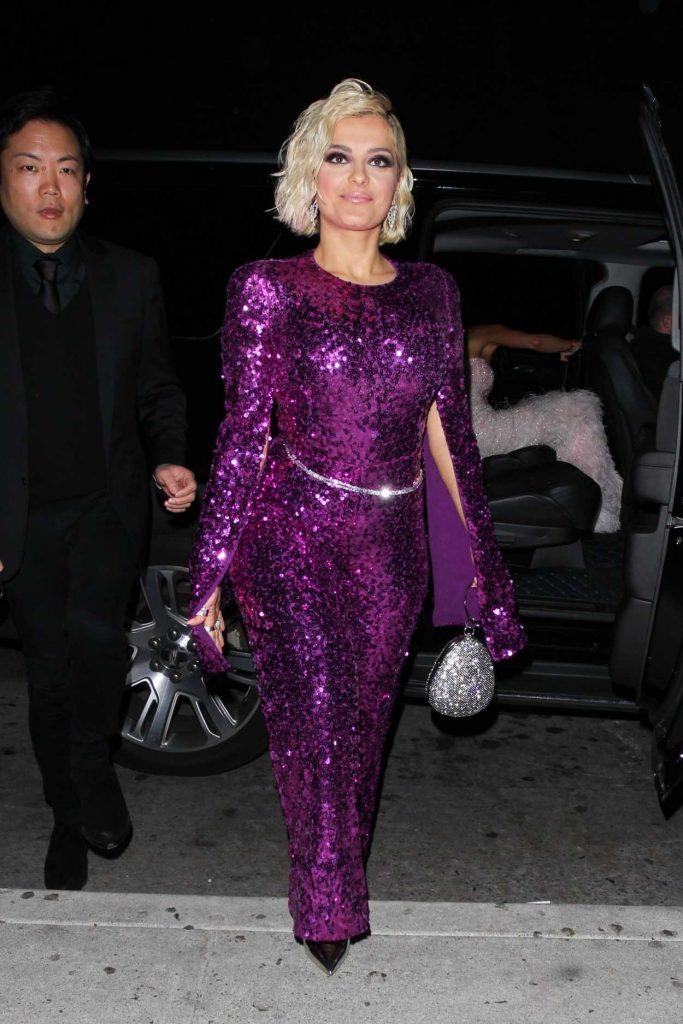 Bebe Rexha in a Purple Suit