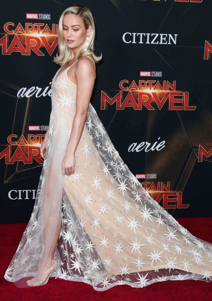 Brie Larson Attends The Captain Marvel Premiere At The El