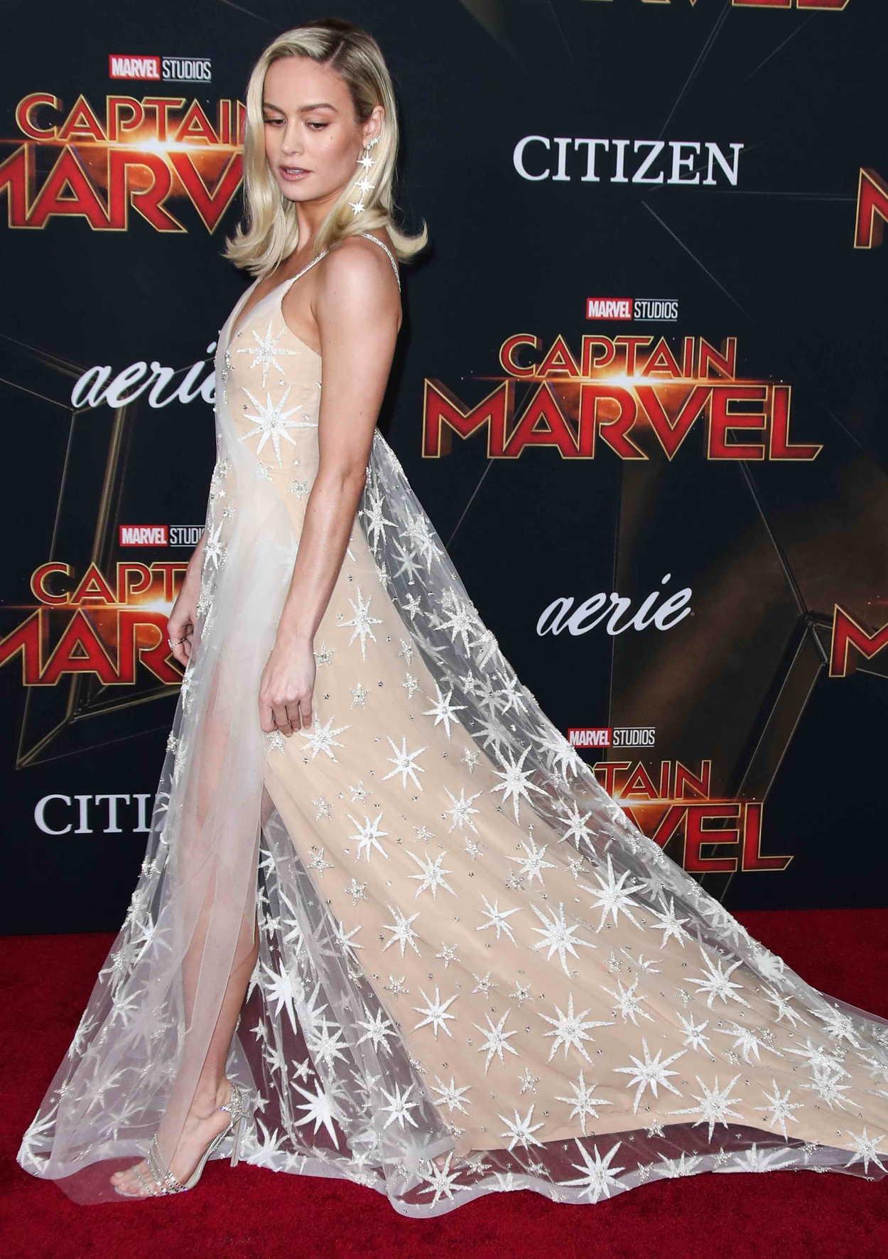 Brie Larson Attends The Captain Marvel Premiere At The El